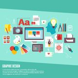 Ícones do projeto gráfico ilustração do vetor