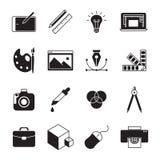 Ícones do projeto gráfico ilustração royalty free