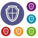 Ícones do protetor ajustados Imagem de Stock