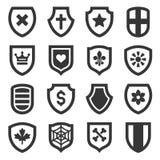 Ícones do protetor ajustados no fundo branco Vetor Foto de Stock