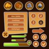 Ícones do recurso para jogos ilustração stock