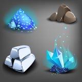 Ícones do recurso para jogos ilustração royalty free