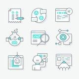Ícones do Redesign do Web site Fotografia de Stock Royalty Free
