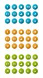 Ícones do reprodutor multimedia Imagens de Stock