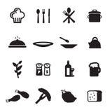 Ícones do restaurante ajustados Fotografia de Stock