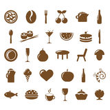Ícones do restaurante da coleção Imagem de Stock