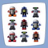 Ícones do robô da arte do pixel Imagem de Stock
