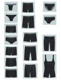 Ícones do roupa interior dos homens Fotos de Stock Royalty Free