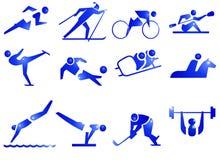 Ícones do símbolo do esporte imagens de stock royalty free