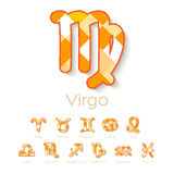 Ícones do símbolo do zodíaco Fotos de Stock