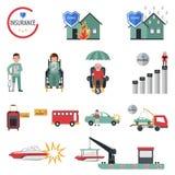 Ícones do seguro Fotos de Stock Royalty Free