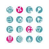Ícones do server do círculo Fotografia de Stock