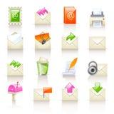 Ícones do serviço de correio Foto de Stock Royalty Free