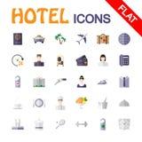 Ícones do serviço de hotel Imagem de Stock