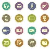 Ícones do serviço do cargo ajustados Imagem de Stock Royalty Free