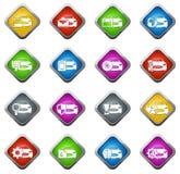 Ícones do serviço do carro ajustados Foto de Stock