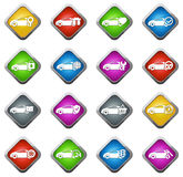 Ícones do serviço do carro ajustados Imagem de Stock