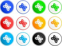 Ícones do sinal da borboleta Imagens de Stock Royalty Free