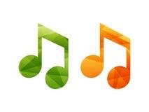 Ícones do sinal da nota musical Foto de Stock Royalty Free