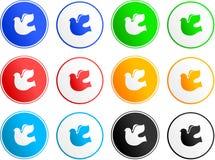 Ícones do sinal da pomba Fotografia de Stock