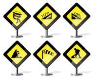 Ícones do sinal de estrada Fotografia de Stock