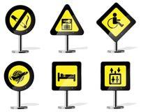 Ícones do sinal de estrada Imagens de Stock