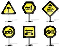 Ícones do sinal de estrada Foto de Stock