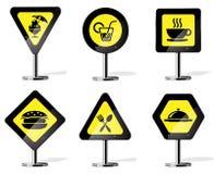 Ícones do sinal de estrada Fotografia de Stock Royalty Free
