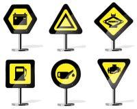 Ícones do sinal de estrada Imagem de Stock