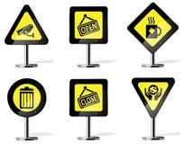 Ícones do sinal de estrada Imagens de Stock Royalty Free