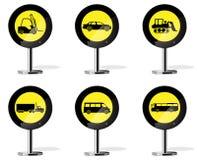Ícones do sinal de estrada Imagem de Stock Royalty Free