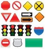 Ícones do sinal de tráfego Imagem de Stock