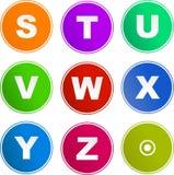 Ícones do sinal do alfabeto Fotos de Stock