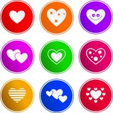 Ícones do sinal do coração ilustração do vetor