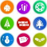 Ícones do sinal do Natal ilustração do vetor
