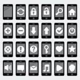 Ícones do smartphone do vetor Foto de Stock Royalty Free