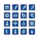 Ícones do software Fotografia de Stock