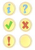 Ícones do software ajustados ilustração stock