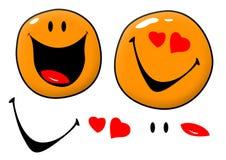 Ícones do sorriso Foto de Stock Royalty Free