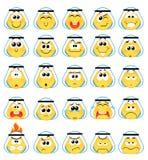 Ícones do sorriso Fotografia de Stock