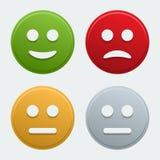 Ícones do sorriso do vetor Imagem de Stock Royalty Free