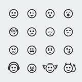 Ícones #2 do sorriso do vetor mini Imagens de Stock