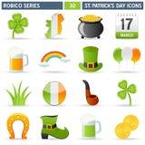Ícones do St. Patrick - série de Robico Fotografia de Stock