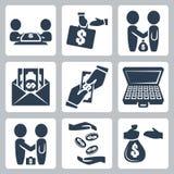 Ícones do subôrno/negócio do vetor ajustados Foto de Stock Royalty Free