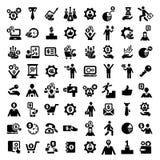 Ícones do sucesso de grande negócio ajustados Foto de Stock Royalty Free