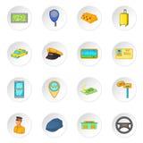 Ícones do táxi ajustados ilustração royalty free