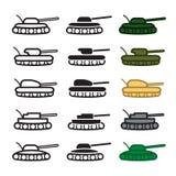 Ícones do tanque ajustados Vetor EPS 10 Imagem de Stock