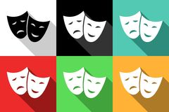 ícones do teatro Imagens de Stock