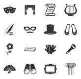 Ícones do teatro ajustados Imagem de Stock