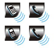 Ícones do telefone Fotografia de Stock